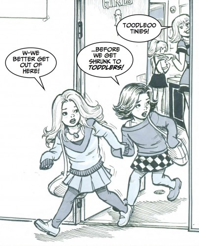 Carol and Gail get regressed into kids in Mating Wars Two.