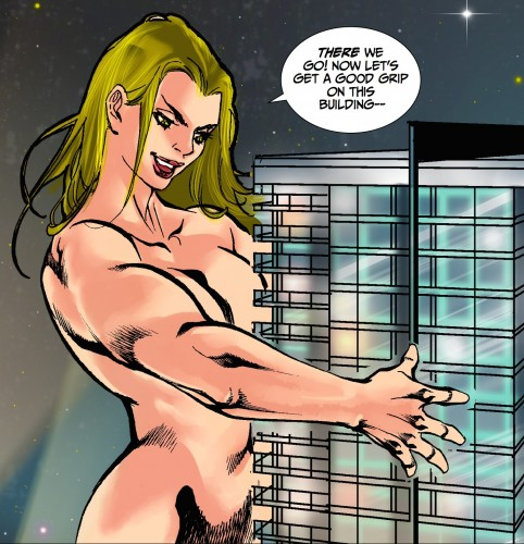 Giantess Brenda gets a grip in Ray's Secret Part Two.