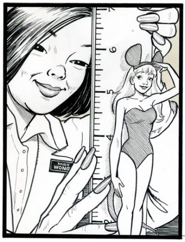 The Prize Shrinking Women Comic bu Bojay